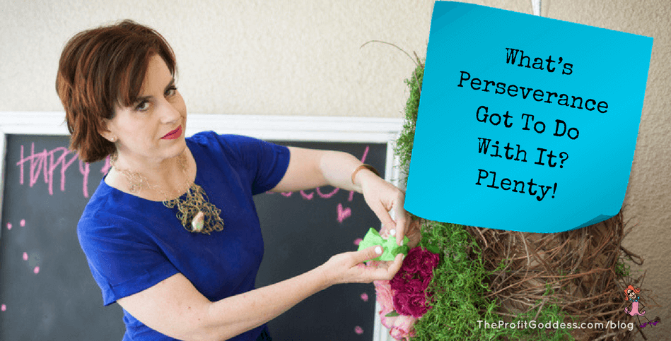What's Perseverance Got To Do With It? Plenty!   The Profit Goddess!